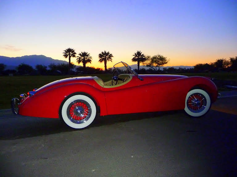 Jaguar xk 120 Hire Indian Wells
